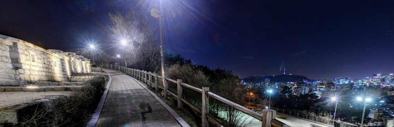 동대문 성곽공원 야경 2