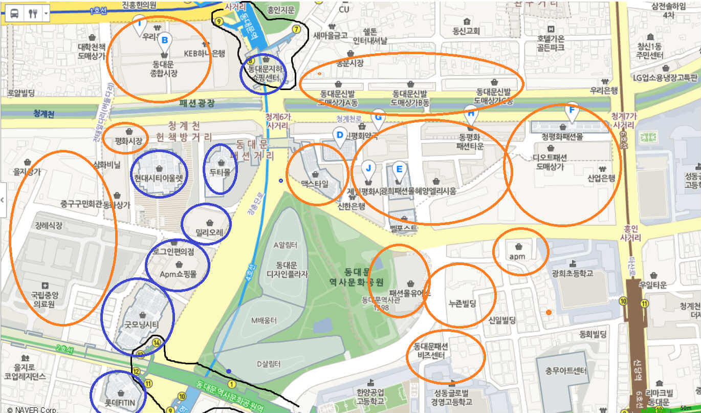 서울 동대문 시장 맵 1
