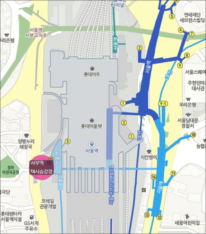 공항철도-택시-승강장