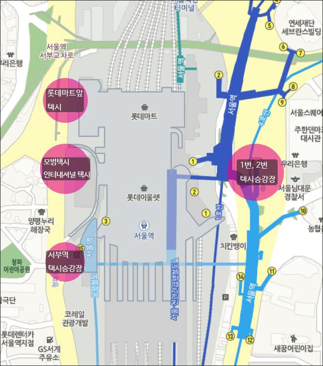 서울역-택시-승강장-전체-지도