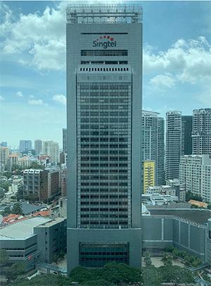싱가포르-싱텔-건물