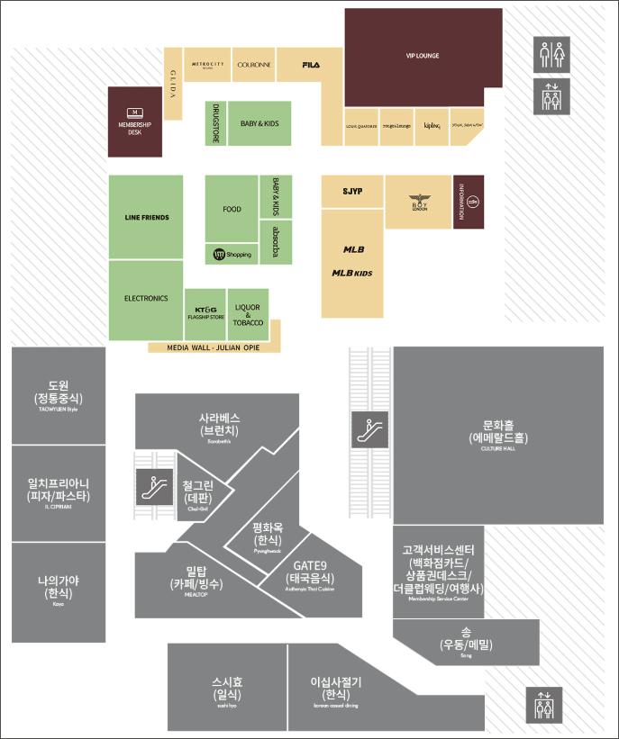 현대백화점-무역센터점-10층-약도