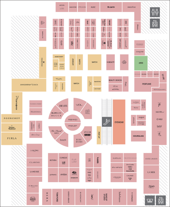 현대백화점-무역센터-면세점-9층-약도