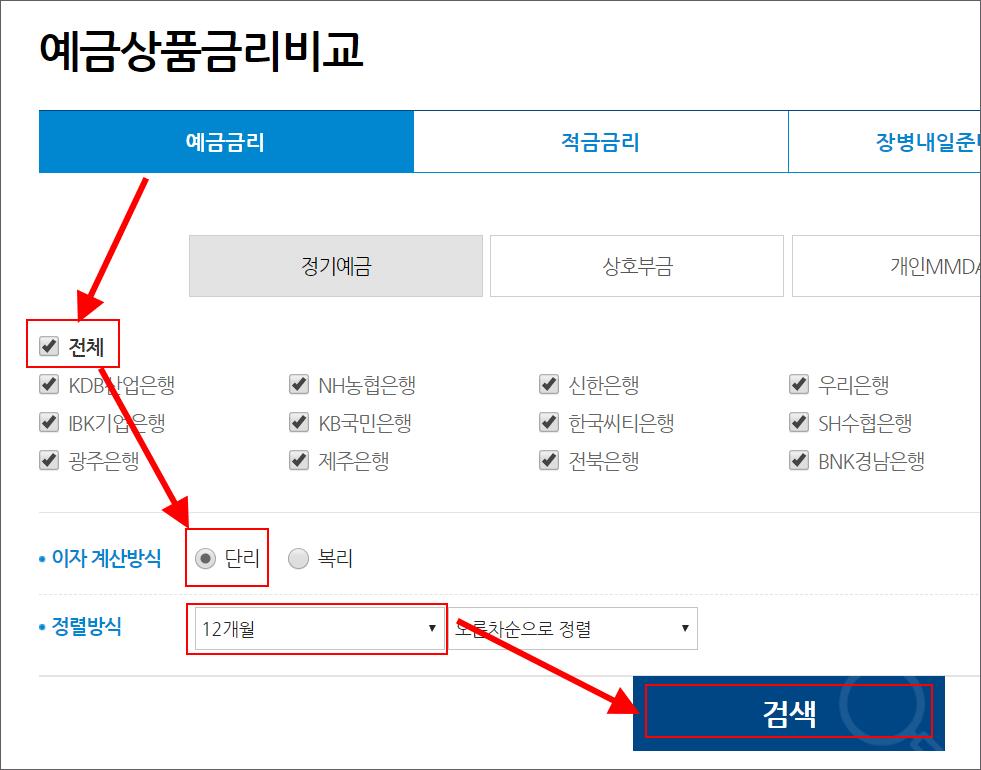 은행 금리 비교 사이트 1