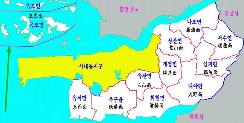 군산 세무서 관할지역 1