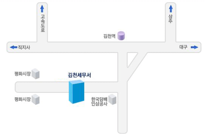 김천 세무서 위치 1