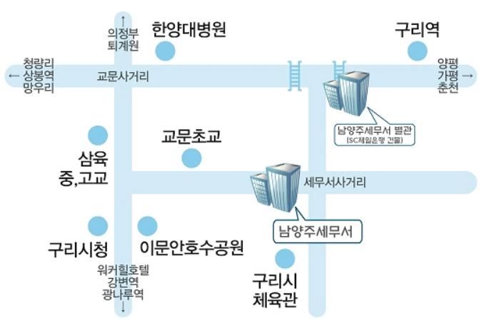 남양주 세무서 본관 및 별관 위치 1