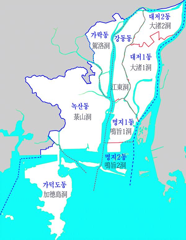 북부산 세무서 관할지역 1