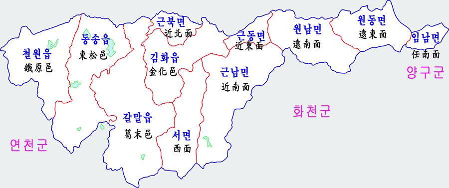 포천 세무서 철원군 관할지역 1