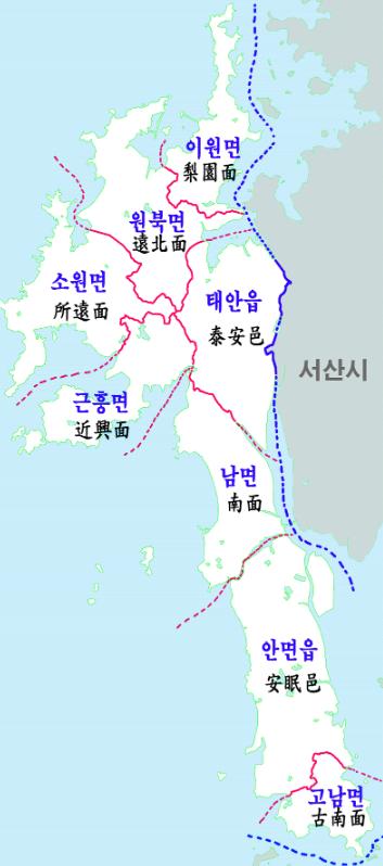 서산 세무서 태안군 관할지역 1