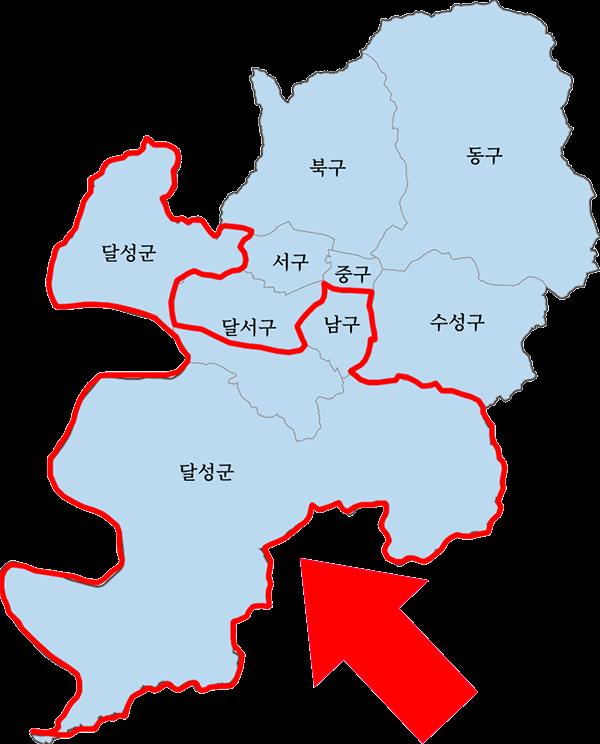 남대구 세무서 관할지역 1