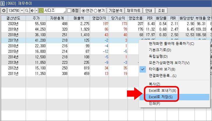 한국 주식 재무제표 HTS 101
